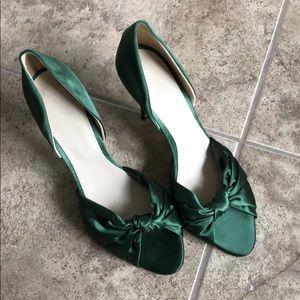 J Crew Heels - green